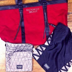 Victoria's Secret Red Tote Weekend Get Away Bundle